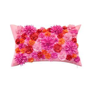 "Edie@HomeEdie Floral Bouquet Indoor/Outdoor Decorative Lumbar Pillow - Multi - Size: 12"" x 20"" x 6"""