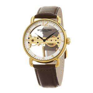 Stuhrling Original Stuhrling Men's Brown Leather Watch