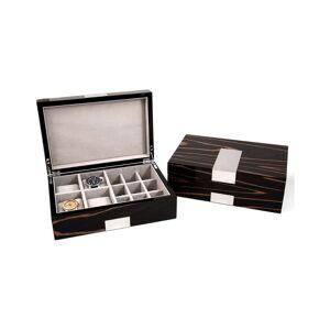 Bey-Berk 4 Watch and Cufflink Valet Box