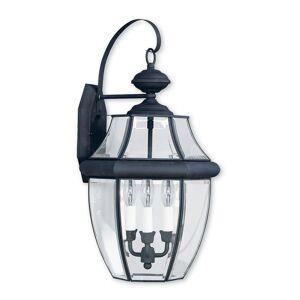 Livex Lighting Livex Monterey 3-Light Black Outdoor Wall Lantern