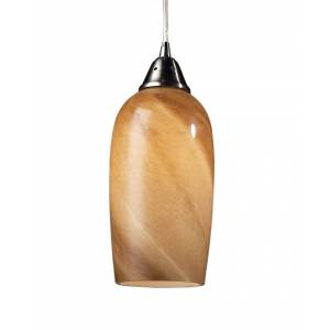 Artistic Home & Lighting 1-Light Satin Nickel Pendant