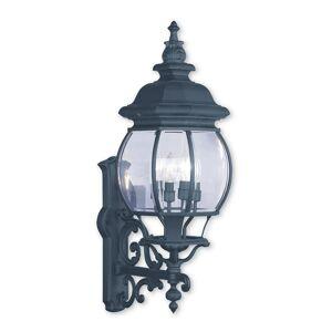 Livex Lighting Livex Frontenac 4-Light Black Outdoor Wall Lantern