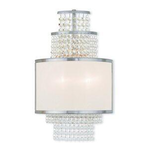 Livex Lighting Livex Prescott 2-Light Brushed Nickel Wall Sconce