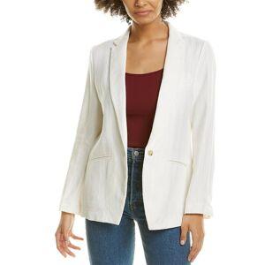 Forte Forte Linen-Blend Herringbone Jacket - White - Size: 3