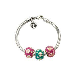 """Little Miss Twin Stars 14K Plated Enamel Bead Bracelet - Size: 4.5"""""""