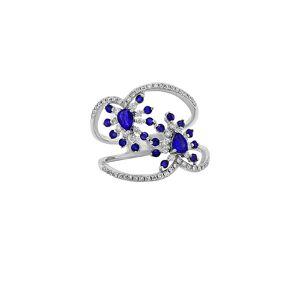 Diana M. Fine Jewelry 14K 1.10 ct. tw. Diamond & Sapphire Ring - Size: 7