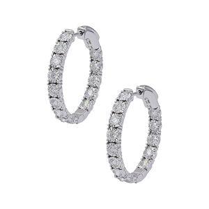Diana M. Fine Jewelry 14K 1.50 ct. tw. Diamond Hoops