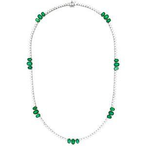 Diana M. Fine Jewelry 18K 18.77 ct. tw. Diamond & Emerald Necklace