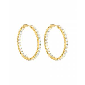 Diana M. Fine Jewelry 18K 10.30 ct. tw. Diamond Hoops
