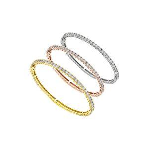 Diana M. Fine Jewelry 18K Tri-Color 10.60 ct. tw. Diamond Bangle Set