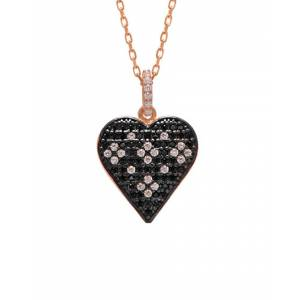 Gabi Rielle 22K Rose Gold Over Silver CZ Necklace