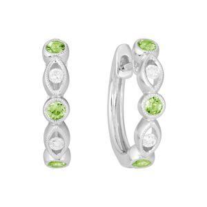 Diamond Select Cuts 14K 0.32 ct. tw. Diamond & Peridot Earrings