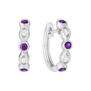 Diamond Select Cuts 14K 0.32 ct. tw. Diamond & Amethyst Earrings