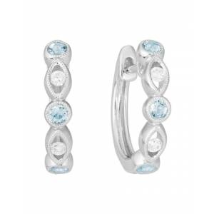 Diamond Select Cuts 14K 0.32 ct. tw. Diamond & Aquamarine Earrings