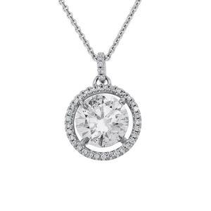 Diana M. Fine Jewelry 18K 2.16 ct. tw. Diamond Pendant Necklace