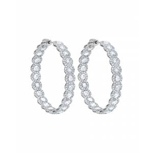 Diana M. Fine Jewelry 18K 10.36 ct. tw. Diamond Hoops