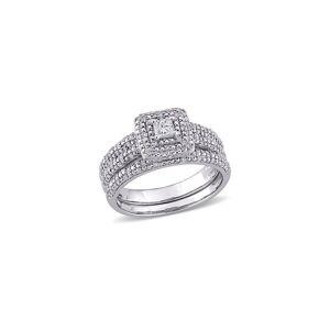 Rina Limor 14K 0.50 ct. tw. Diamond Halo Bridal Ring Set - Size: 10