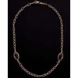 Italian Gold 14K Italian Gold 7.50 ct. tw. Smokey Quartz Necklace