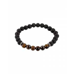 Candy Eye Candy Los Angeles Luxe Collection Chakra Beaded Tiger Eye Stretch Bracelet
