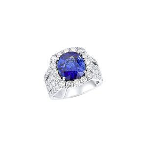 Diana M. Fine Jewelry 18K 8.61 ct. tw. Diamond & Sapphire Ring - Size: 6