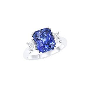 Diana M. Fine Jewelry 18K 7.11 ct. tw. Diamond & Sapphire Ring - Size: 6