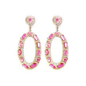 Diana M. Fine Jewelry 18K 23.47 ct. tw. Diamond & Sapphire Earrings