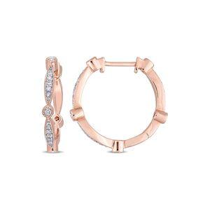 Rina Limor 10K Rose Gold 0.32 ct. tw. Diamond Earrings