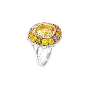 Diana M. Fine Jewelry 18K 7.14 ct. tw. Diamond Ring - Size: 6.5