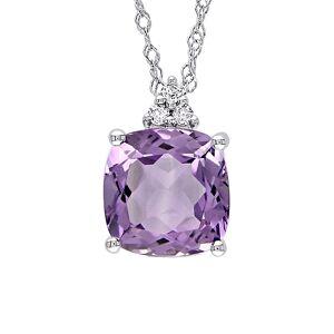 Rina Limor 10K 1.78 ct. tw. Diamond & Amethyst Pendant Necklace