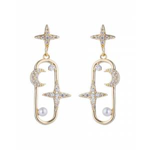 Candy Eye Candy Los Angeles Luxe Collection Star Moon cubic zirconia crystal Drop Earring