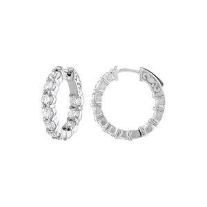 Diana M. Fine Jewelry 18K 4.10 ct. tw. Diamond Hoop Earrings