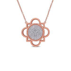 Rina Limor 14K Rose Gold 0.50 ct. tw. Diamond Pendant Necklace