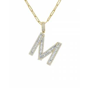 "Sabrina Designs 14K 3.21 ct. tw. Diamond ""M"" Initial Necklace"