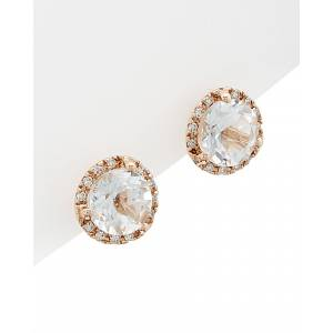 Diana M. Fine Jewelry 14K Rose Gold 3.10 ct. tw. Diamond & White Topaz Studs