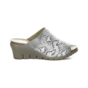 FLY London Idar Leather Comfort Wedge Sandal - Size: 40