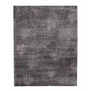 Exquisite Rugs Antique'd Hand-Knotted Bamboo Silk Contemporary Rug - Size: 6' x 9'