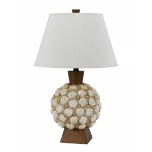 Cal Lighting Calighting Seashell Resin Table Lamp