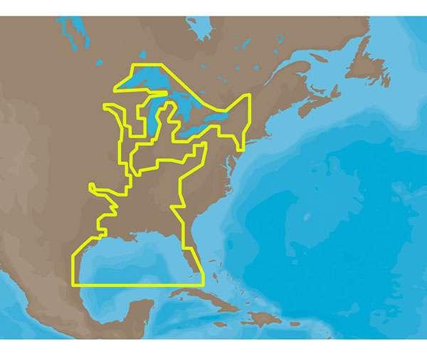 C-MAP MAX NA-M023 - U.S. Gulf Coast & Inland Rivers - C-Card