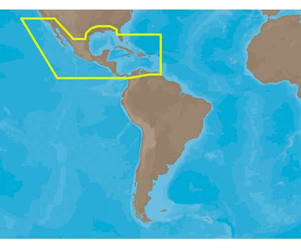 C-MAP MAX NA-M027 - Central America & The Caribbean - SD-Card