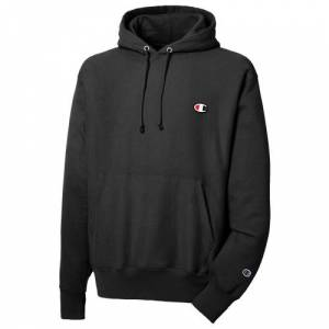 Champion Mens Champion Reverse Weave Left Chest C Pullover Hoodie - Mens Black/Black Size M