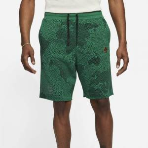 Nike Mens Nike Alumni C2W Shorts - Mens Green/Green Size M