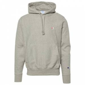 Champion Mens Champion Reverse Weave Left Chest C Pullover Hoodie - Mens Oxford Grey/Gray Size M
