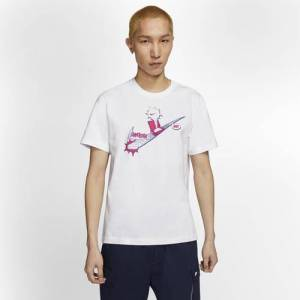 Nike Mens Nike Graphic T-Shirt - Mens Black/White Size M
