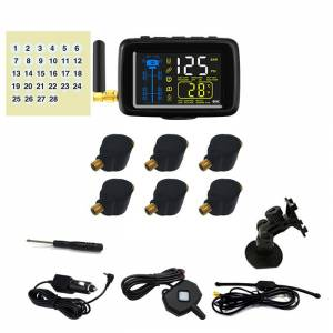RV Products 4 You TTILifes U901TU Flow Through Tire Pressure Monitoring System with Six Sensors