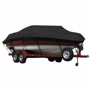 Covermate Exact Fit Covermate Sunbrella Boat Cover for Vip Bay Stealth 1730 Bay Stealth 1730 W/Troll Mtr O/B. Black