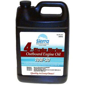 Sierra 10W-30 Oil For Mercury Marine Engine, Sierra Part #18-9420-3P (36 Case Pallet)