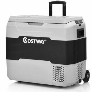 Costway 42 QT Portable Dual-Zone Car Refrigerator-Gray