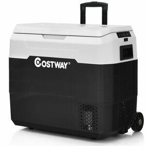 Costway 42 QT Portable Dual-Zone Car Refrigerator-White