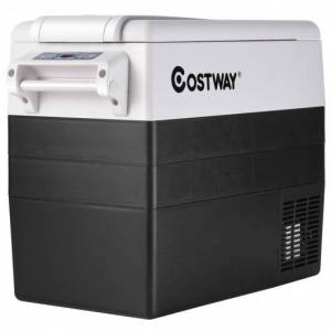 Costway 55 Quarts Portable Electric Car Refrigerator-Black