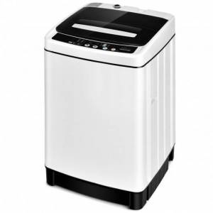 Costway Full-Automatic Washing Machine 1.5 Cu. Ft 11 LBS Washer and Dryer -White